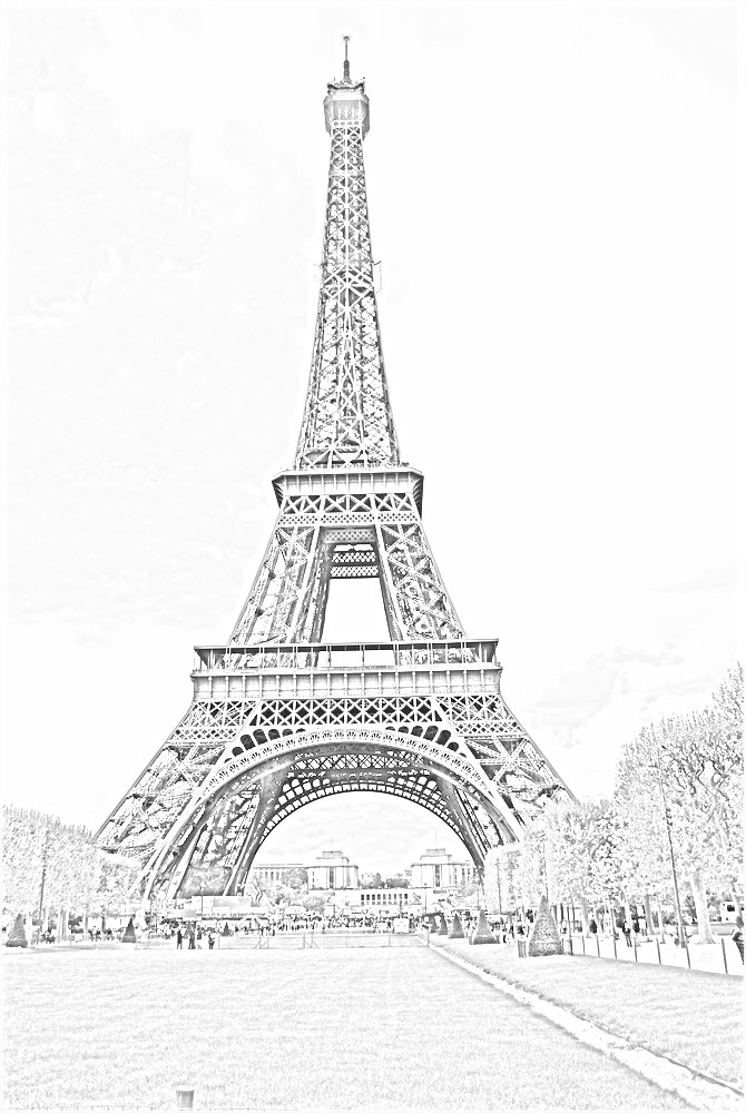 Eiffel Tower Pencil Sketch Action Sketch - Phatch...